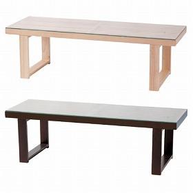 ガラステーブル NE 天然木 ( センターテーブル ローテーブル リビングテーブル 机 コーヒーテーブル )