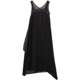 agris 【ヨシダナギコラボレーション】アシンメトリーラップドレス ワンピース,ブラック