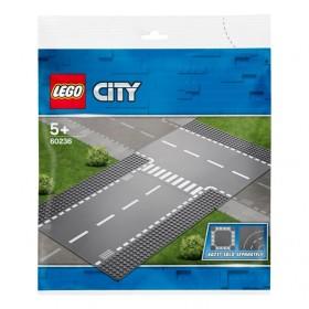 レゴ シティ 60236 ロードプレート 直線道路とT字路