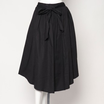 スタイルブロック STYLEBLOCK ウエストリボンイレヘムロングスカート (ブラック)