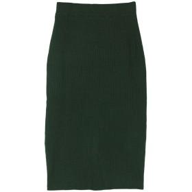 ユアーズ ur's リブニットタイトスカート (グリーン)