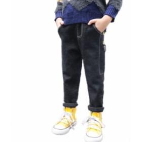 韓国子供服  ジーンズ キッズ デニム  ズボン 男の子 春 秋 冬 かっこいい 100/110/120/130/140cm ブラック ゴム帯