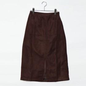 スタイルブロック STYLEBLOCK フェイクスウェードスカート (ブラウン)