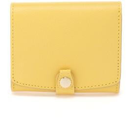 TOPKAPI 角シボ型押し 折り財布 財布,レモンイエロー