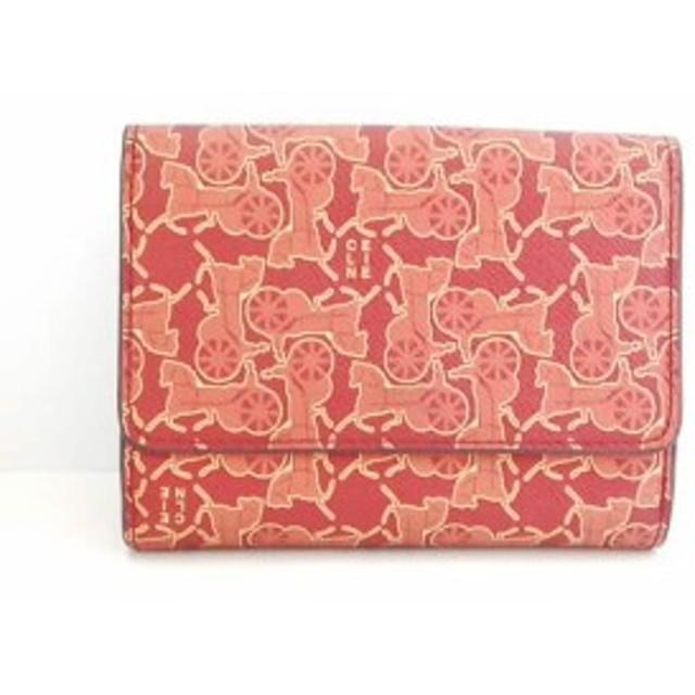 efd85a8f2b2c セリーヌ CELINE Wホック財布 レディース マルシェ レッド×オレンジ×イエロー PVC(塩化ビニール