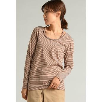 LIPSTAR リップスター 三つ編み長袖ロングTシャツ