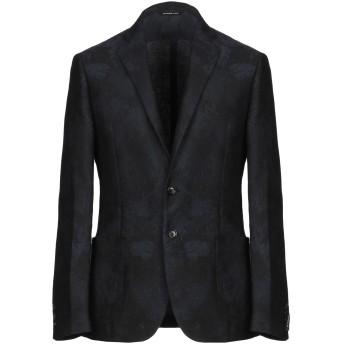 《期間限定セール開催中!》TONELLO メンズ テーラードジャケット ブラック 48 麻 75% / コットン 25%
