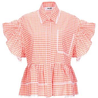 《セール開催中》MSGM レディース シャツ オレンジ 44 コットン 100%
