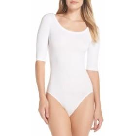 ユミー ボディスーツ 下着 レディース【YUMMIE Ballet Bodysuit】White