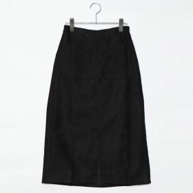 スタイルブロック STYLEBLOCK フェイクスウェードスカート (ブラック)