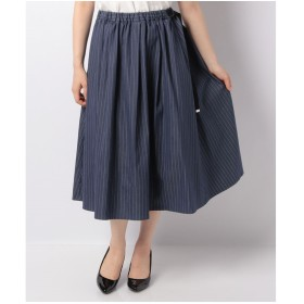OLD ENGLAND WEB限定【OEPP】シャンブレーストライプスカート(ネイビー)【返品不可商品】