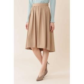 NATURAL BEAUTY タックギャザーふんわりカラースカート ひざ丈スカート,ベージュ3