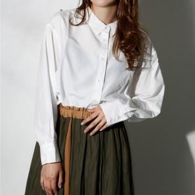 クラシカルエルフ Classical Elf 3パターンで着れる新感覚、カラバリ豊富なシャツブラウス (【無地】オフ)