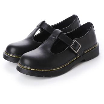 ジェミニ GeMini オックスフォードシューズ レディース おじ靴 革靴 カジュアルシューズ レディース プラットフォーム 8713 (PuBlack)