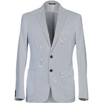 《期間限定セール開催中!》TONELLO メンズ テーラードジャケット ブルー 50 コットン 100%
