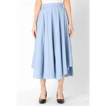 Kaon ソリッドサーキュラースカート ミモレ丈・ひざ下丈スカート,BLUE