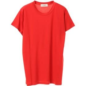 VONDEL テンセルベーシックTシャツ Tシャツ・カットソー,RED