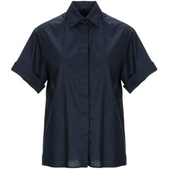 《セール開催中》CRISTIANA C レディース シャツ ダークブルー 42 コットン 97% / ポリウレタン 3%