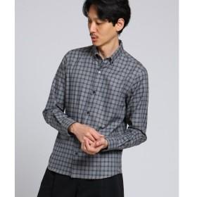 TAKEO KIKUCHI / タケオキクチ ブロックチェックボタンダウンシャツ[ メンズ シャツ チェック ボタンダウン ]