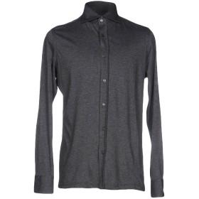 《期間限定セール開催中!》GIAMPAOLO メンズ シャツ 鉛色 S コットン 100%