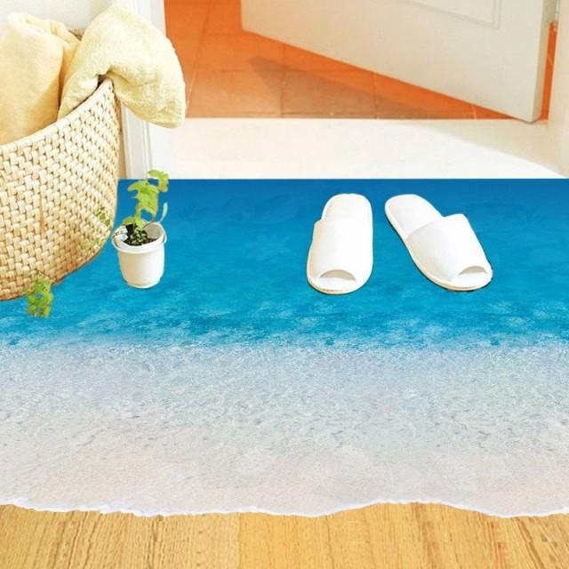 ★W281砂浜と波!\★大人気!話題の賃貸OKで剥がせるウォールステッカー・壁紙!/★お部屋の模様替え時やインテリア装飾に最適!