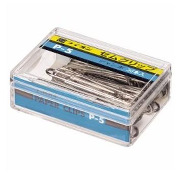 (まとめ) ライオン事務器 ゼムクリップ ジャンボ50mm P-5 1箱(30本) 〔×30セット〕 〔送料無料〕