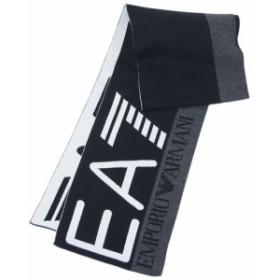 アルマーニ マフラー 275561 メンズ EA7 エンポリオ アルマーニ スカーフ EA7ロゴ ブラック/ホワイト/杢グレー 30111