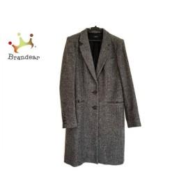 ジョセフ JOSEPH コート サイズ38 L レディース 美品 黒×白 冬物     スペシャル特価 20190323