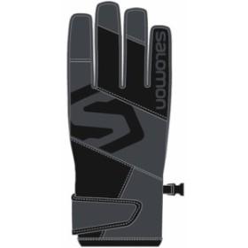 サロモン(SALOMON) メンズ レディース スキー グローブ JP SALOMON BIG LOGO GLOVE Forged Iron/Black L402867000 【スキー用品 スノー