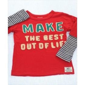 808922f07ba71 エフオーキッズ F.O.KIDS 長袖Tシャツ ロンt 110cm 赤系 刺しゅう ワッフル トップス キッズ