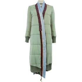 Greg Lauren layered padded coat - グリーン