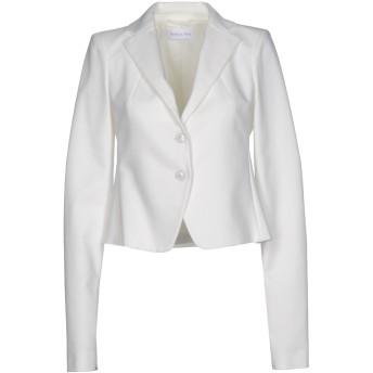 《期間限定セール開催中!》PATRIZIA PEPE レディース テーラードジャケット ホワイト 42 コットン 49% / ポリエステル 48% / ポリウレタン 3%