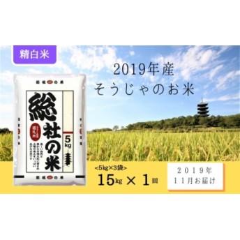 そうじゃのお米【精白米】15kg〔2019年12月配送〕