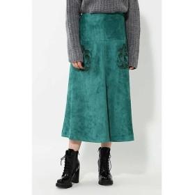 ROSE BUD / ローズ バッド フェイクスエードスカート