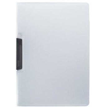 (まとめ)TANOSEE スライドクリップファイルA4タテ 黒 1冊 〔×50セット〕