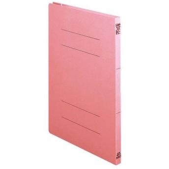 (まとめ)ライオン事務器 2サイズフラットファイルA4タテ 150枚収容 背幅18mm ピンク A-216K 1冊 〔×30セット〕