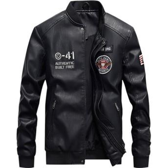 2018秋冬 襟立ちPU皮 ジャケット メンズ カジュアルジャケット ライダースジャケット 5色 メンズアウター FK-0236