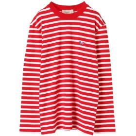 MAISON KITSUNE MARIN TEE-SHIRT TRICOLOR Tシャツ・カットソー,RED WHITE