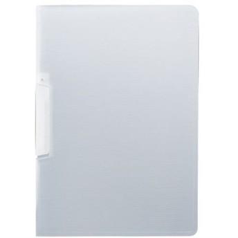 (まとめ)TANOSEE スライドクリップファイルA4タテ クリア 1冊 〔×50セット〕