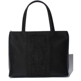 ブラックギャラリー A4対応 日本製コード刺繍フォーマルトートバッグ レディース ブラック F 【BLACK GALLERY】