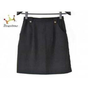 レオナール LEONARD スカート レディース 美品 黒×マルチ       スペシャル特価 20190612