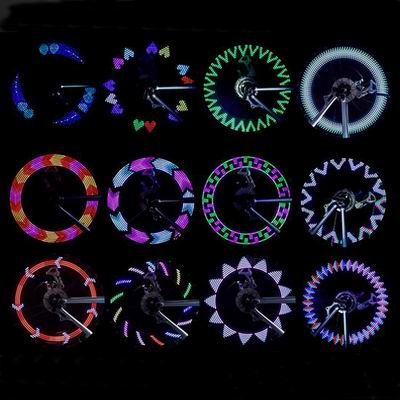 【自行車輻條風火輪-A02-30圖案-7x4x1.5cm-1只1組】自行車燈單車車輪輪胎裝飾燈雙面亮-527053
