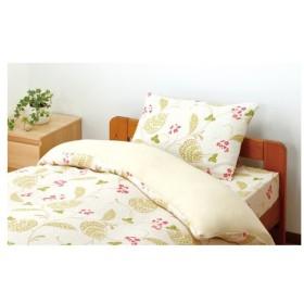 cecile(セシール) 2重ガーゼ枕カバー/CR-1020 プリントA(花・グリーン)/枕カバー M:約50×35cm