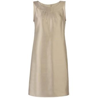 《セール開催中》ARMANI COLLEZIONI レディース ミニワンピース&ドレス サンド 42 コットン 55% / シルク 45%