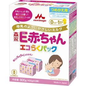 ★送料無料★森永 粉ミルク ペプチドミルク エコらくパック E赤ちゃん つめかえ用 / E赤ちゃん(400g×2袋)×12箱セット