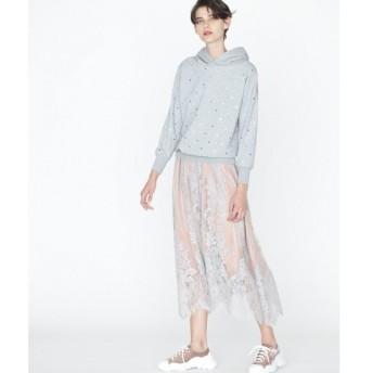 GRACE CONTINENTAL / グレースコンチネンタル スカラレースギャザースカート