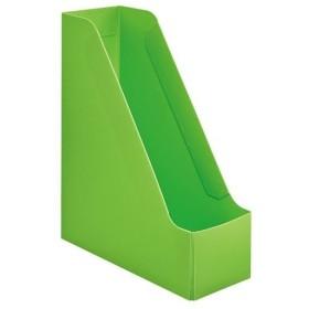(まとめ)TANOSEEPP製ボックスファイル(組み立て式) A4 タテ グリーン 1個 〔×30セット〕