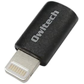 c4e493d784 micro USBを簡単変換できるライトニング変換できるアダプター OWL-ADLMF-BK ブラック