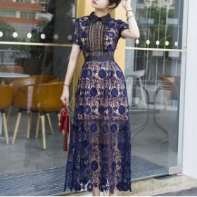 ロングドレス 結婚式 二次会 ワンピース パーティードレス お呼ばれワンピース お呼ばれドレス 袖あり ロング ドレス パーティー 結婚式