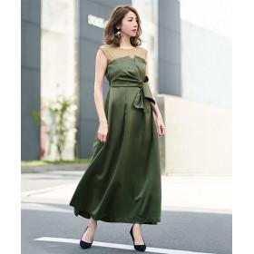 ドレス - GIRL 結婚式 ワンピース パーティードレス 大きいサイズ ロング丈 ロング ミモレ丈 ネイビー ゆったり 小さいサイズ お呼ばれ 他と被らない ドレス 二次会 ノースリーブ ロングドレス ビスチェ風